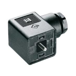 Клапанный штекер гнездо угловое SAIB/VSA/3P/230/9/H/OB