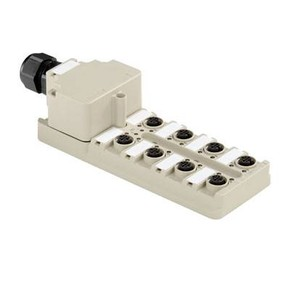 Концентратор M12 сигналов пассивный распределитель (Вариант с крышкой) SAI/8/M/5P/M12/ECO
