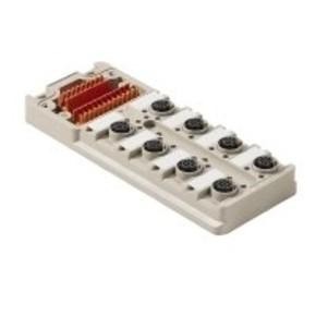 Концентратор M12 сигналов пассивный распределитель (Вариант с крышкой) SAI/8/M/5P/M12/ECO/UT