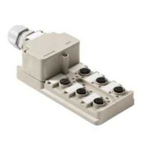 Концентратор M12 сигналов пассивный распределитель (Вариант с крышкой) SAI/6/M/5P/M12/ECO