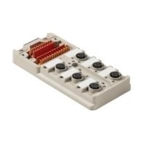 Концентратор M12 сигналов пассивный распределитель (Вариант с крышкой) SAI/6/M/5P/M12/ECO/UT