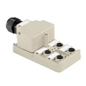 Концентратор M12 сигналов пассивный распределитель (Вариант с крышкой) SAI/4/M/5P/M12/ECO