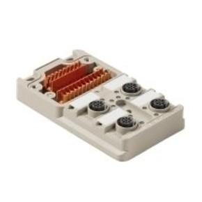 Концентратор M12 сигналов пассивный распределитель (Вариант с крышкой) SAI/4/M/5P/M12/ECO/UT