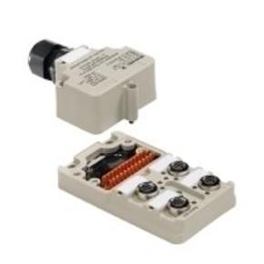 Концентратор M12 сигналов пассивный распределитель (Вариант с крышкой Ex) SAI/4/M/4P/M12/Ex/ia