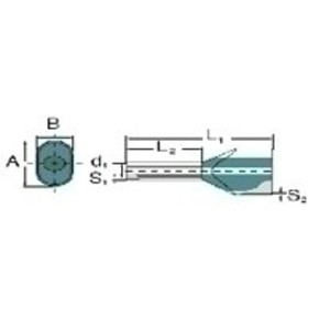 Кабельный наконечник без изоляции двойной H16,0/38D/ZH/BL