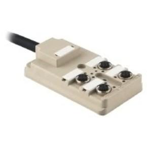Концентратор M12 сигналов пассивный распределитель (Вариант с кабелем) SAI/4/F/5P/PUR/3M