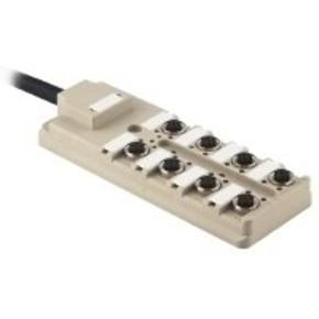 Концентратор M12 сигналов пассивный распределитель (Вариант с кабелем) SAI/8/F/4P/PUR/3M