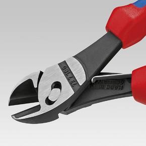 Боковые черненые кусачки Knipex TwinForce высокой мощности, чёрного цвета, 180 мм