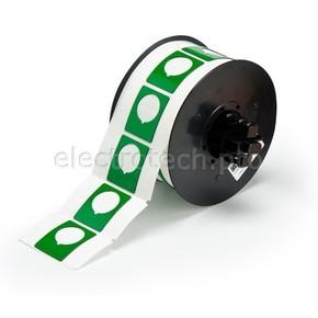 Маркировка под кнопку B30EP-167-593-GN, зелёный материал B-593 EPREP, 30,48 * 38,10 мм, диаметр отверстия 22,5 мм, выемка, 235 шт. (BBP31/33/35/37)