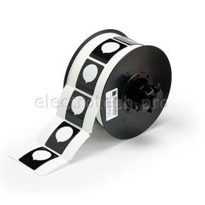 Маркировка под кнопку B30EP-167-593-BK, чёрный материал B-593 EPREP, 30,48 * 38,10 мм, диаметр отверстия 22,5 мм, выемка, 235 шт. (BBP31/33/35/37)
