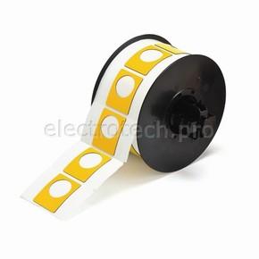Маркировка под кнопку B30EP-167U-593-YL, жёлтый материал B-593 EPREP, 30,48 * 38,10 мм, диаметр отверстия 22,5 мм, 235 шт. (BBP31/33/35/37)
