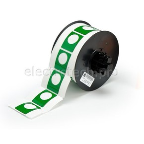 Маркировка под кнопку B30EP-167U-593-GN, зелёный материал B-593 EPREP, 30,48 * 38,10 мм, диаметр отверстия 22,5 мм, 235 шт. (BBP31/33/35/37)