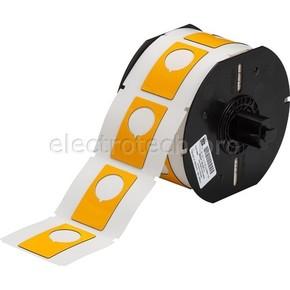 Маркировка под кнопку B30EP-168-593-YL, жёлтый материал B-593 EPREP, 30,48 * 48,26 мм, диаметр отверстия 22,5 мм (BBP31/33/35/37)