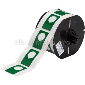 Маркировка под кнопку B30EP-168-593-GN, зелёный материал B-593 EPREP, 30,48 * 48,26 мм, диаметр отверстия 22,5 мм (BBP31/33/35/37)
