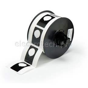 Маркировка под кнопку B30EP-168-593-BK, чёрный материал B-593 EPREP, 30,48 * 48,26 мм, диаметр отверстия 22,5 мм (BBP31/33/35/37)