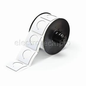 Маркировка под кнопку B30EP-169-593-WT, белый материал B-593 EPREP, 45,72 * 45,72 мм, диаметр отверстия 30,5 мм, выемка, 190 шт. (BBP31/33/35/37)