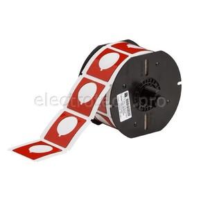 Маркировка под кнопку B30EP-169-593-RD, красный материал B-593 EPREP, 45,72 * 45,72 мм, диаметр отверстия 30,5 мм, выемка, 190 шт. (BBP31/33/35/37)