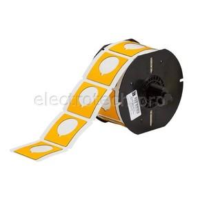 Маркировка под кнопку B30EP-169-593-YL, жёлтый материал B-593 EPREP, 45,72 * 45,72 мм, диаметр отверстия 30,5 мм, выемка, 190 шт. (BBP31/33/35/37)