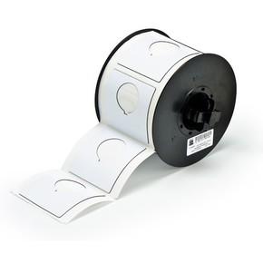 Маркировка под кнопку B30EP-170-593-WT, белый материал B-593 EPREP, 60,96 * 60,96 мм, диаметр отверстия 30,5 мм, выемка, 145 шт. (BBP31/33/35/37)