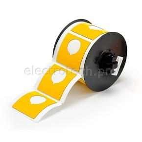 Маркировка под кнопку B30EP-170-593-YL, жёлтый материал B-593 EPREP, 60,96 * 60,96 мм, диаметр отверстия 30,5 мм, выемка, 145 шт. (BBP31/33/35/37)