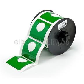 Маркировка под кнопку B30EP-170-593-GN, зелёный материал B-593 EPREP, 60,96 * 60,96 мм, диаметр отверстия 30,5 мм, выемка, 145 шт. (BBP31/33/35/37)