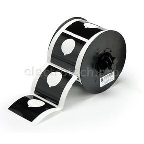 Маркировка под кнопку B30EP-170-593-BK, чёрный материал B-593 EPREP, 60,96 * 60,96 мм, диаметр отверстия 30,5 мм, выемка, 145 шт. (BBP31/33/35/37)
