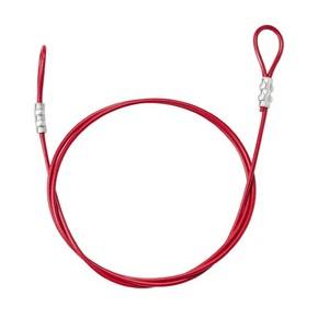 Тросс в виниловой оболочке с петлями на концах Brady, красный, 183 см, 4.7 мм