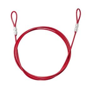 Тросс в виниловой оболочке с петлями на концах Brady, красный, 244 см, 4.7 мм