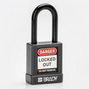 Замок компактный Brady brady,дужка:, синий,алюминиевый, 4.7 мм, 25 мм, 19x64x32 мм, 1, 6 шт