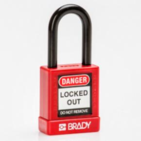 Замок компактный Brady brady,дужка:, черный,алюминиевый, 4.7 мм, 25 мм, 19x64x32 мм, 1, 6 шт