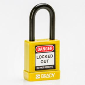 Замок компактный Brady brady,дужка:, красный,алюминиевый, 4.7 мм, 25 мм, 19x64x32 мм, 1, 6 шт