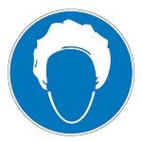 Знак безопасности предписывающий работать в средствах индивидуальной защиты органов дыхания Brady 25 мм, b-7541, Ламинация, pic 253, Полиэстер, 250 шт