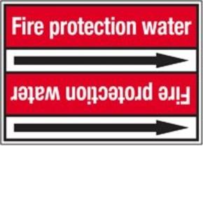 Стрелка для маркировки трубопровода Brady, белый на красном, «sprinklers», 100x33000 мм, b-7529, 220 шт, 13 мм
