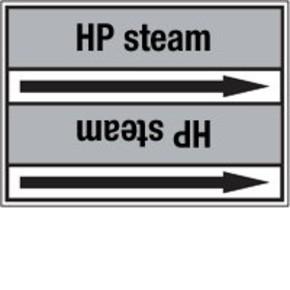 Стрелка для маркировки трубопровода Brady, черный на сером, «saturated steam», 100x33000 мм, b-7529, 220 шт, 13 мм