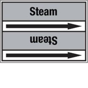 Стрелка для маркировки трубопровода Brady, черный на сером, «steam supply», 100x33000 мм, b-7529, 220 шт, 13 мм