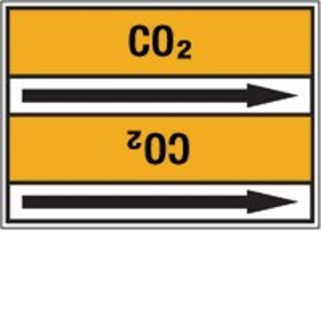 Стрелка для маркировки трубопровода Brady, черный на желтом, «condensate», 100x33000 мм, b-7529, 220 шт, 13 мм