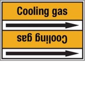 Стрелка для маркировки трубопровода Brady, черный на желтом, «dry nitrogen gas», 100x33000 мм, b-7529, 220 шт, 13 мм