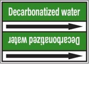 Стрелка для маркировки трубопровода Brady, белый на зеленом, «demineralised water», 100x33000 мм, b-7529, 220 шт, 13 мм