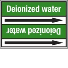 Стрелка для маркировки трубопровода Brady, белый на зеленом, «distilled water», 100x33000 мм, b-7529, 220 шт, 13 мм