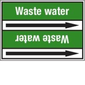 Стрелка для маркировки трубопровода Brady, белый на зеленом, «well water», 100x33000 мм, b-7529, 220 шт, 13 мм
