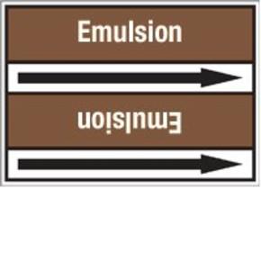 Стрелка для маркировки трубопровода Brady, белый на коричневом, «heating oil», 100x33000 мм, b-7529, 220 шт, 13 мм