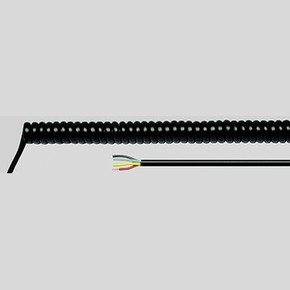 Спиральный кабель Helukabel PUR SPIKA WL 2000 мм, 3G1,5 мм , черный