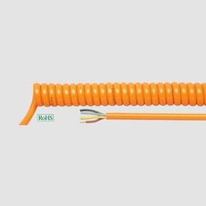 Спиральный кабель Helukabel PUR SPIKA H05BQ F WL 1500 мм, 3G0,75 мм , оранжевый