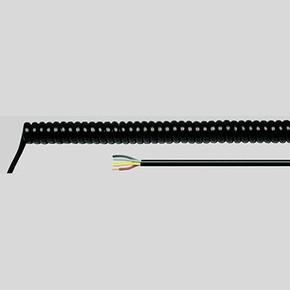 Спиральный кабель Helukabel PUR-SPIKA WL 500 мм, 7G1,5 мм², черный