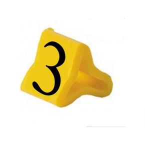 Маркер на провод 0,2-0,75 мм PY 01/3, жёлтый:3 К