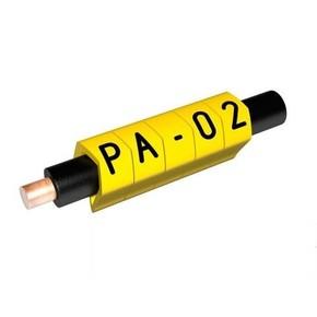 Маркер на провод 0,2-1,5 мм PA 02/3, жёлтый:0 П