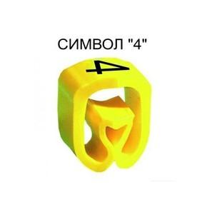 Маркер на провод 1,5-4,0 мм PA 1/3, жёлтый:4 К