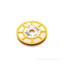 Овальный профиль на провод 0,5 мм² PO-02, белый, 250 м