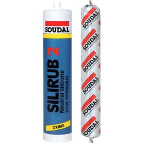 Герметик нейтральный Силируб Soudal 15x310мл серый (102422)