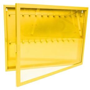Станция  замковая на 26 замков. Cталь 1.5 мм, порошковая окраска. Желтый. 440*350*55 мм